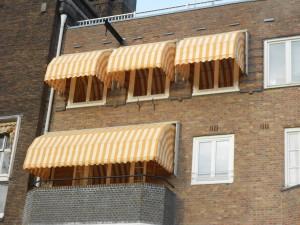 markiezen buitenzonwering in Amsterdam zuid gemonteerd door www.protectsun.nl